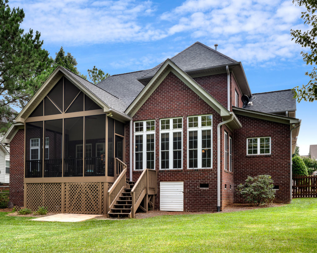 A deck was created to a screened porch in this Charlotte area home