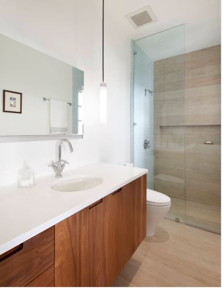 Wood Look Porcelain Tile In Bathrooms | Case Charlotte