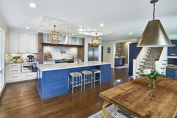 remodel the heart of your home; beautiful blue kitchen, charlotte, nc