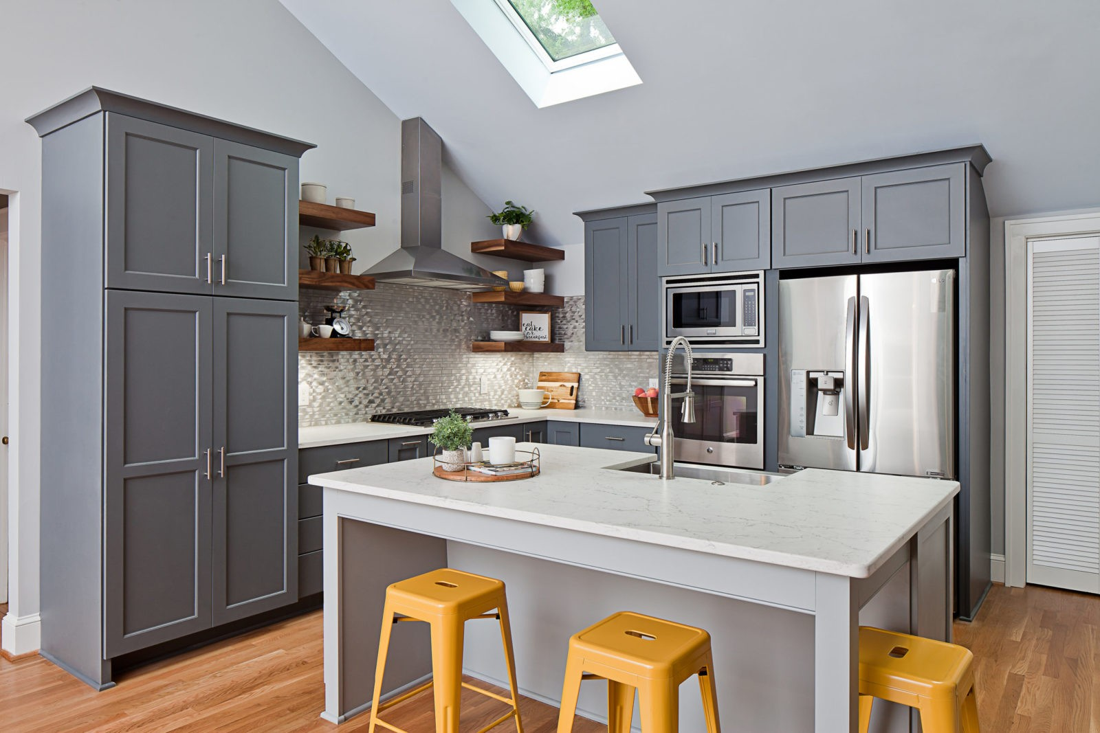 Open Concept Kitchen with Island in Plaza Midwood