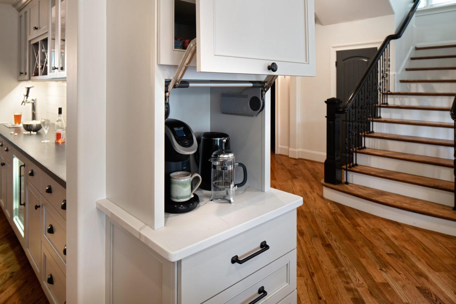 farmhouse-style-kitchen-hidden-coffee-staion-in-kitchen