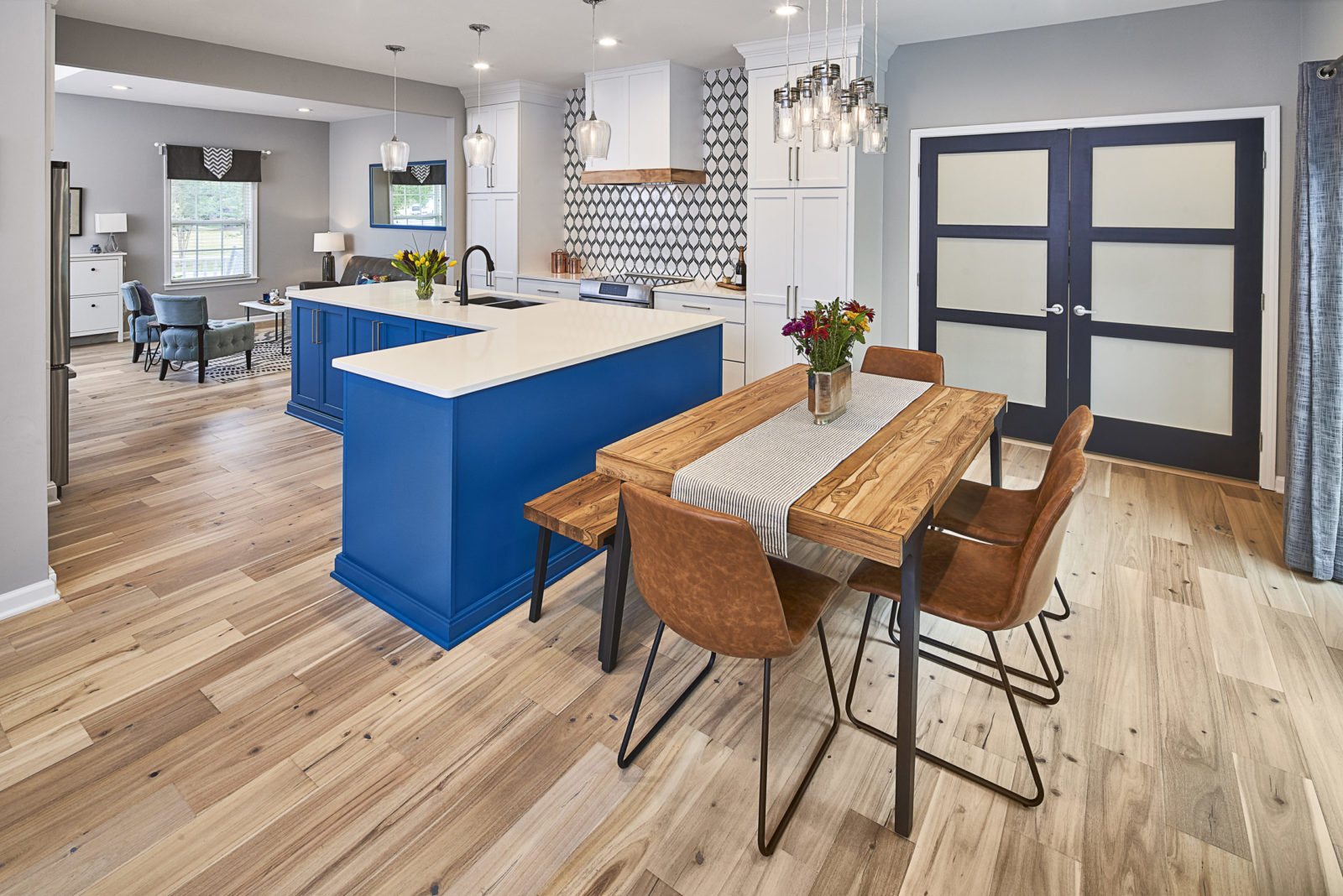 Blue And White Kitchen Remodel Revision Design